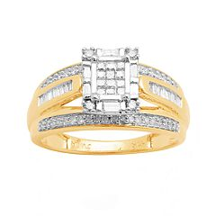 Diamond Engagement Ring in 10k Gold (1/2 ctT.W.)