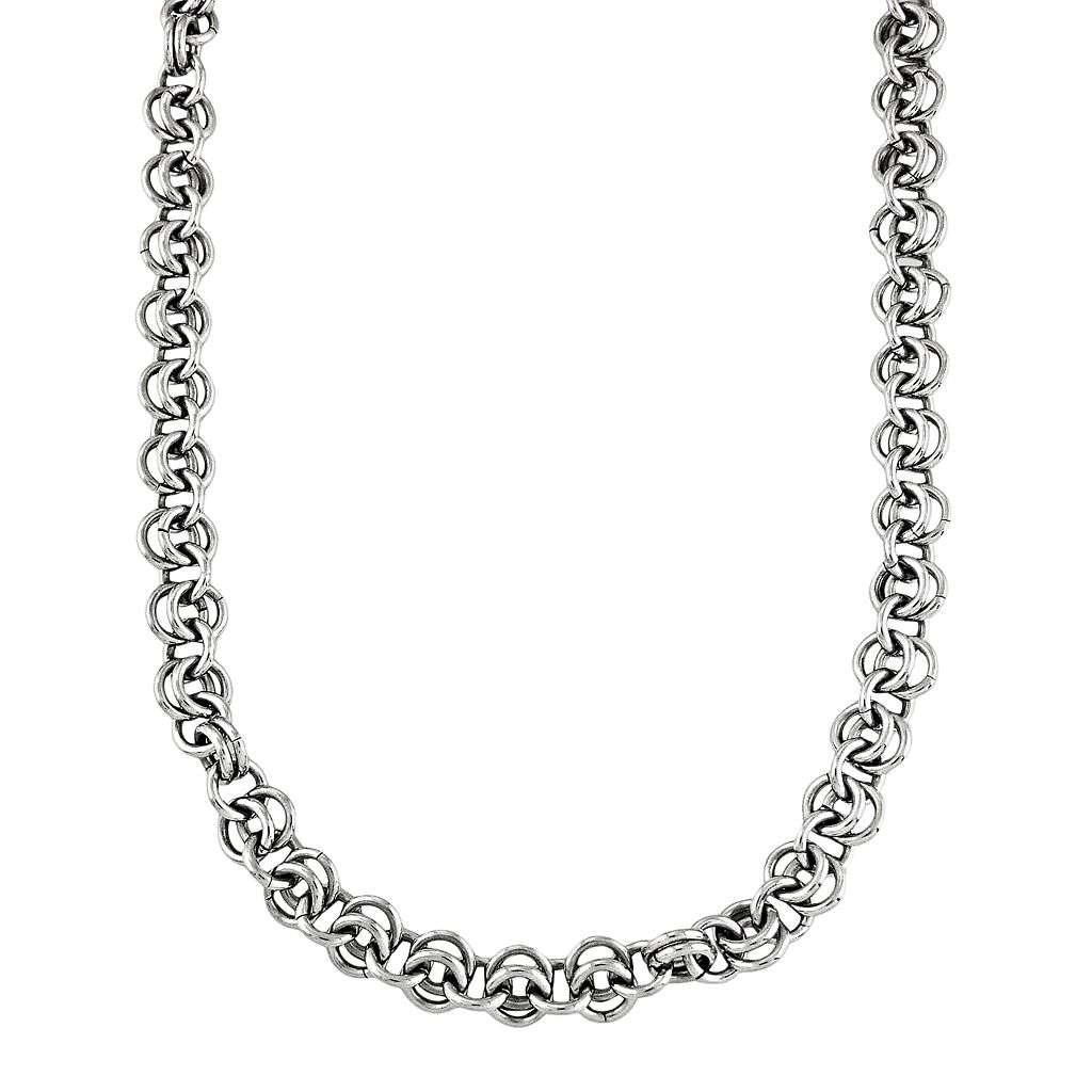 LYNX Stainless Steel Link Chain Necklace - Men