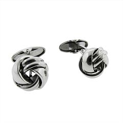 LYNX Stainless Steel Knot Cuff Links