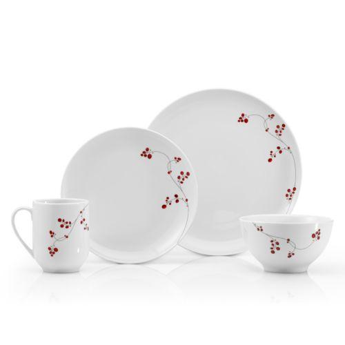 Mikasa Gourmet Basics Red Berries 16-pc. Dinnerware Set