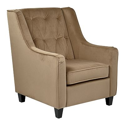 Office Star Products Avenue Six Curves Tufted Chair