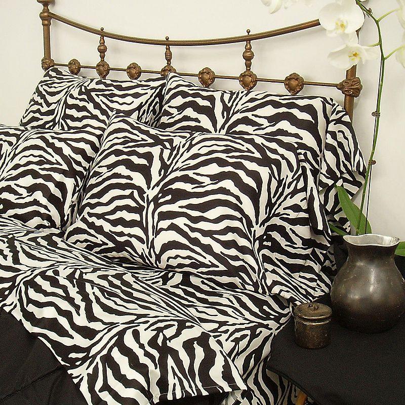 Zebra 200-Thread Count Sateen Sheet Set - Queen
