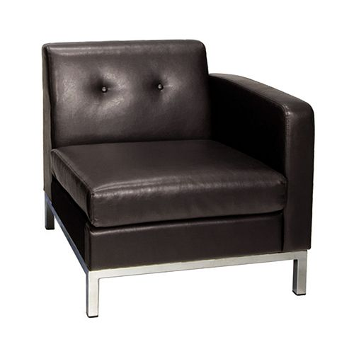 Office Star Products Avenue Six Wall Street Corner Arm Chair