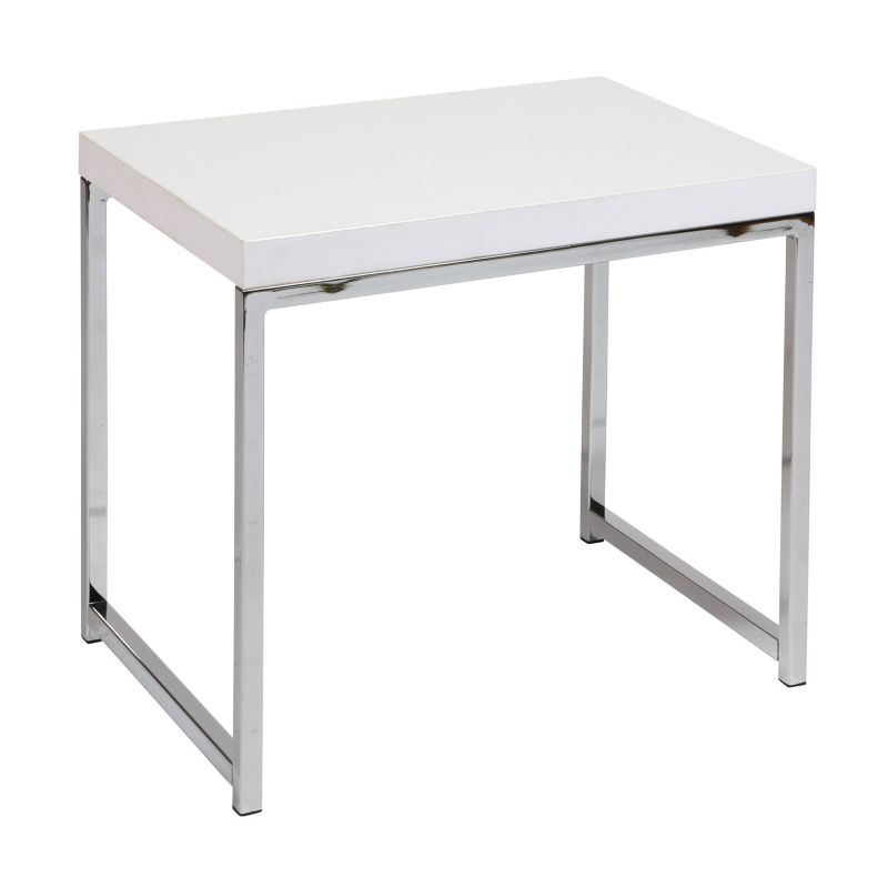 Office Star Products Avenue Six Wall Street End Table, White