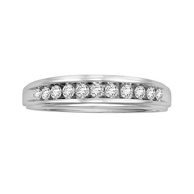 Love Always Sterling Silver 1/4-ct. T.W. Round-Cut Diamond Ring