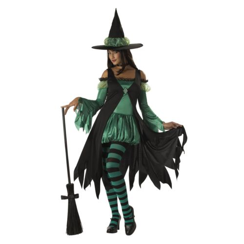 Emerald Witch Costume - Adult