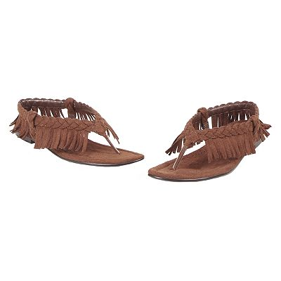 Fringe Costume Thong Sandals