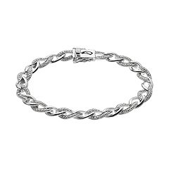 Sterling Silver 1/4-ct. T.W. Diamond Bracelet