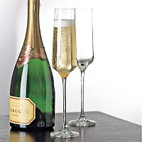 Wine Enthusiast 4 pc Fusion Infinity Champagne Glass Set