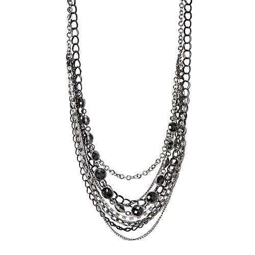Simply Vera Vera Wang Jet-Tone Multistrand Necklace