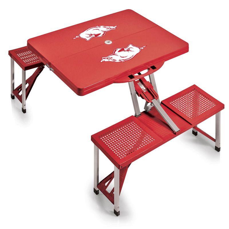 Outdoor Arkansas Razorbacks Folding Table, Red