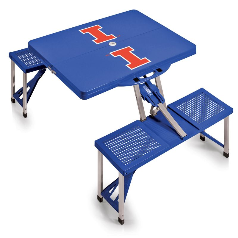 Outdoor Illinois Fighting Illini Folding Table, Blue