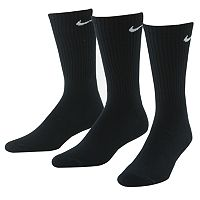 Men's Nike 3 pkPerformance Crew Socks - Extended Sizes