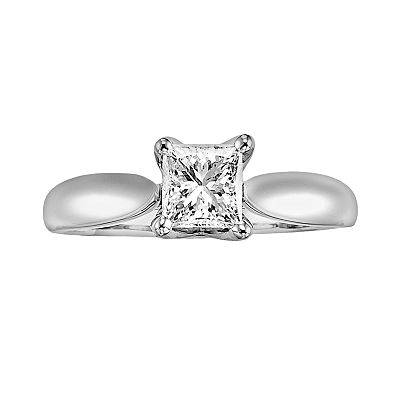 14k White Gold 5/8-ct. T.W. Certified Diamond Ring