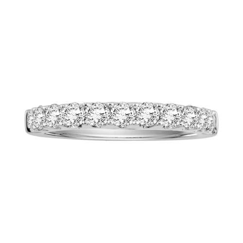 Cherish Always 14k White Gold 1-ct. T.W. Certified Diamond Wedding Ring