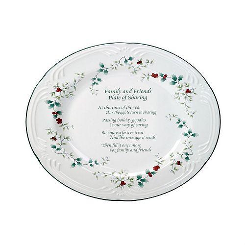 "Pfaltzgraff Winterberry ""Friends & Family"" Serving Plate"