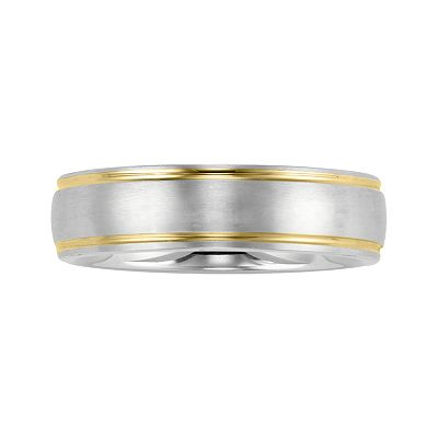 Stainless Steel Two Tone Band - Men