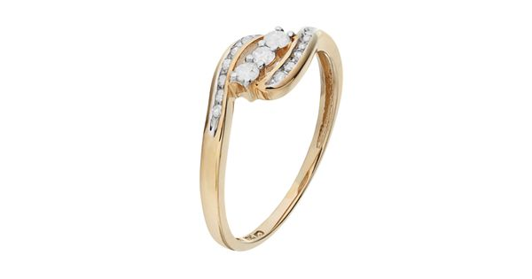 Round cut diamond swirl engagement ring in 10k gold 1 4 for Kohls fine jewelry coupon