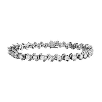 DiamonLuxe Sterling Silver 7 1/4-ct. T.W. Simulated Diamond S Bracelet