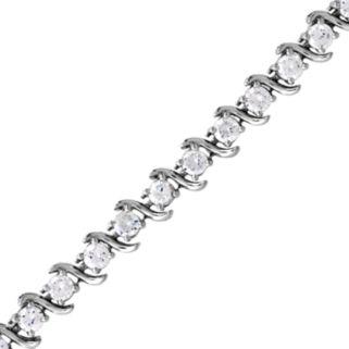 DiamonLuxe Sterling Silver 7 1/4-ct. T.W. Simulated Diamond S Bracelet