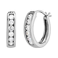 DiamonLuxe Sterling Silver 3/5-ct. T.W. Simulated Diamond Hoop Earrings