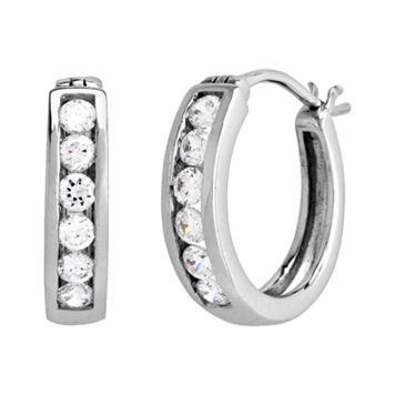 DiamonLuxe Sterling Silver 3/5-ct. T.W. Simulated Diamond Hoop Earrings