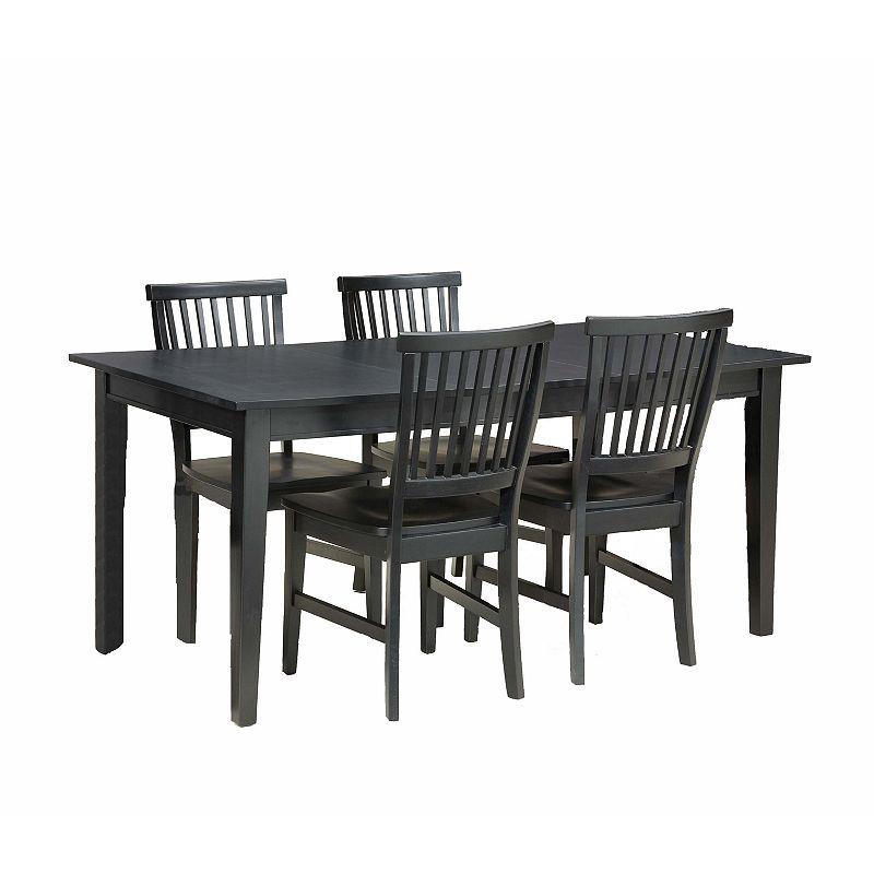 Arts& Crafts 5-pc. Dining Set (Black)