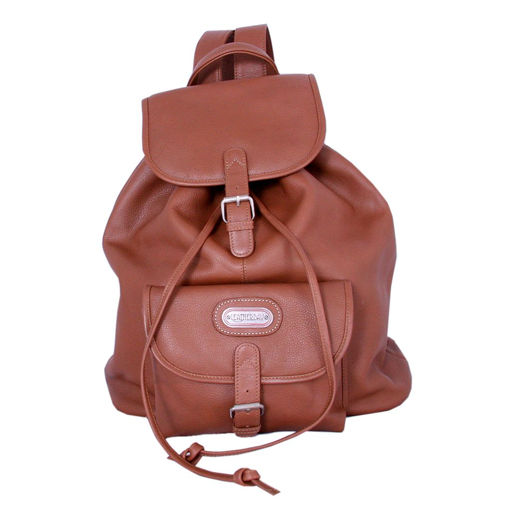 Leatherbay Single Pocket Backpack