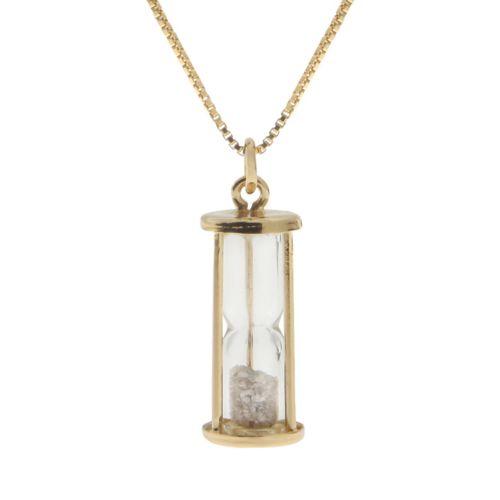 24k Gold-Over-Silver 1/2-ct. T.W. Diamond Hourglass Pendant