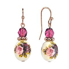 1928 Floral Drop Earrings