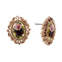 1928® Gold Tone Floral Stud Earrings
