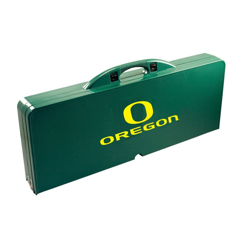Outdoor Oregon Ducks Folding Table, Green