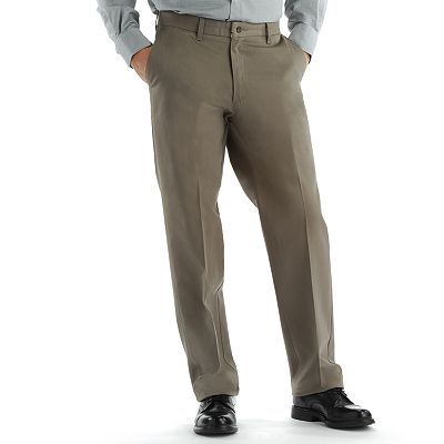Lee No-Iron Relaxed-Fit Flat-Front Pants