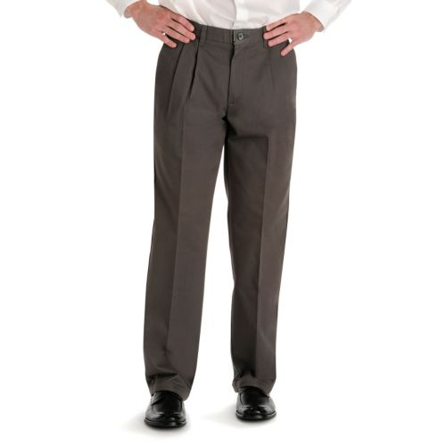 Lee No-Iron Relaxed-Fit Pleated Pants