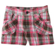 Jumping Beans Plaid Woven Shorts