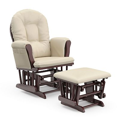 Stork Craft Hoop Glider Rocking Chair and Ottoman