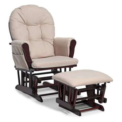 Stork Craft Hoop Glider Chair & Ottoman Set