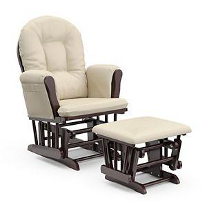 Graco Parker Semi-Upholstered Glider and Nursing Ottoman Espresso//Beige