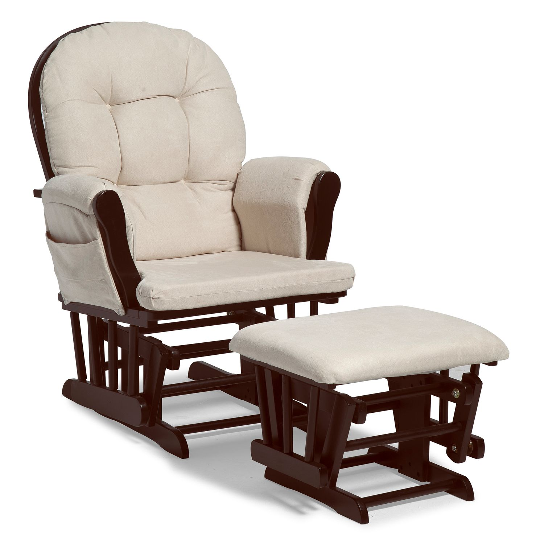 Stork Craft Hoop Glider Chair U0026 Ottoman Set