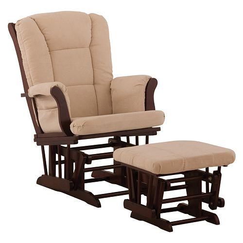 Stork craft tuscany glider rocking chair ottoman for Stork craft tuscany glider rocking chair ottoman