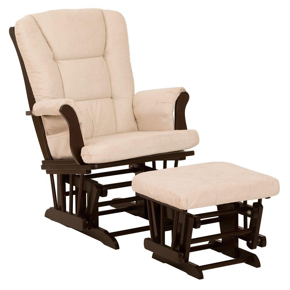 Storkcraft Tuscany Glider Rocking Chair & Ottoman