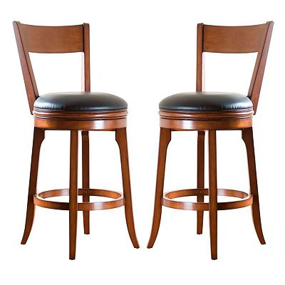 American Heritage Billiards Autumn Swivel Bar Stool Set