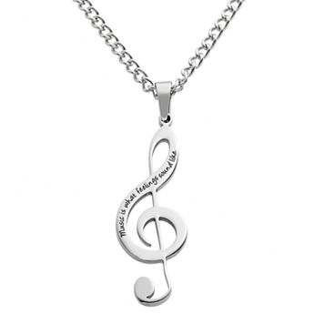 Stainless Steel Treble Clef Pendant