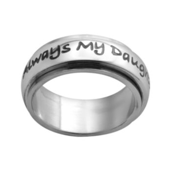 Stainless Steel Always My Daughter Ring