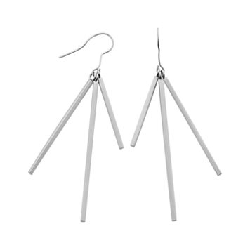Stainless Steel Bar Drop Earrings