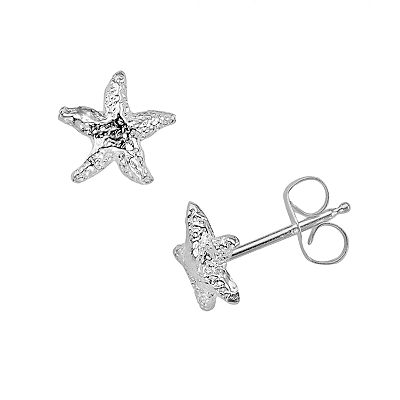 K'Dorable Sterling Silver Starfish Stud Earrings - Kids