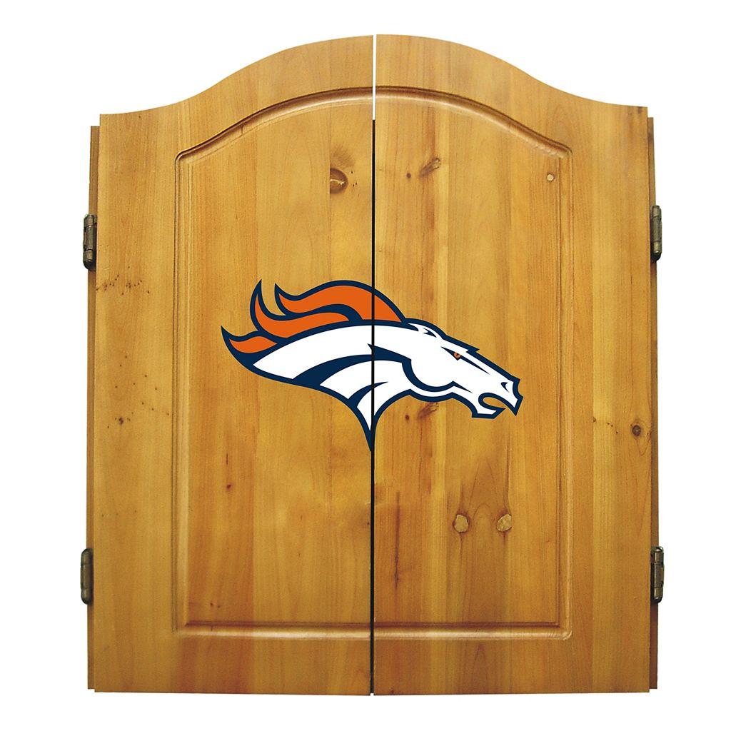 Denver Broncos Dartboard Cabinet