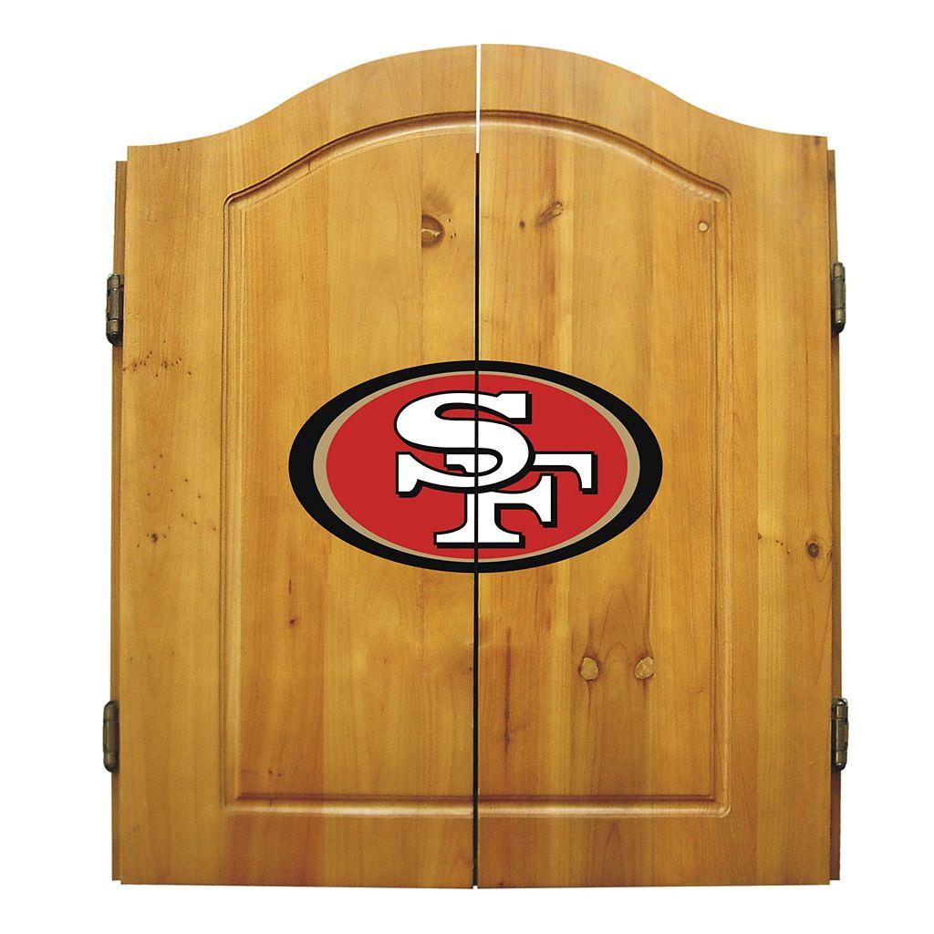 San Francisco 49ers Dartboard Cabinet