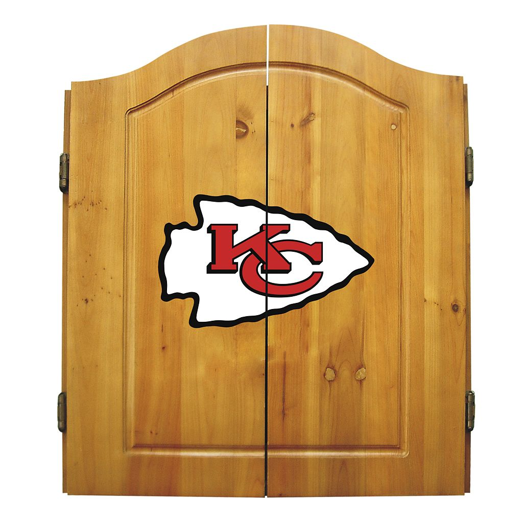 Kansas City Chiefs Dartboard Cabinet