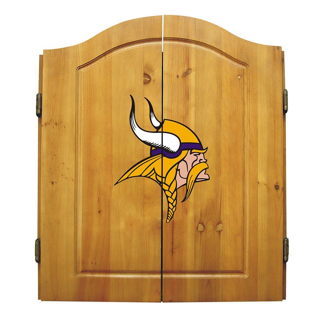 Minnesota Vikings Dartboard Cabinet